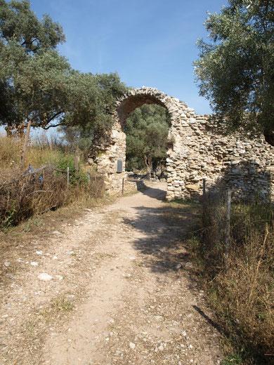 Das Eingangstor am hellenistischen Turm