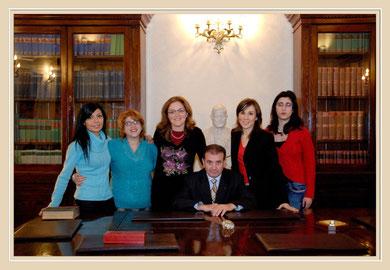 Da sinistra: Avv Mirabella, Segr. Leone, Avv. Zito, Avv. Timpanaro, Avv. Pagliazzo, Avv. Campione.Sala riunioni.