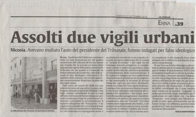 LA SICILIA, giovedì 23 settembre 2010