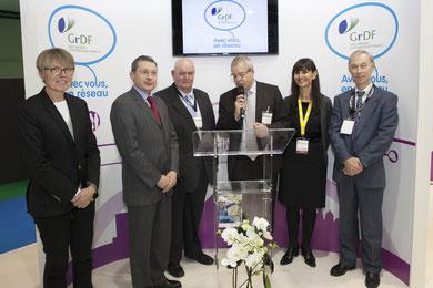 signature de la convention avec GRDF au salon des maires à Paris
