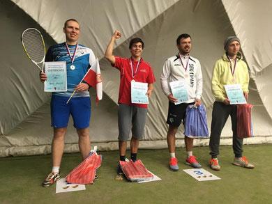 Podest ICO Crossminton Pardubice Open 2017. (Foto: Česká asociace crossmintonu)