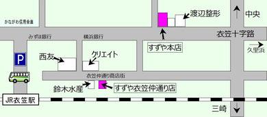 衣笠駅周辺地図