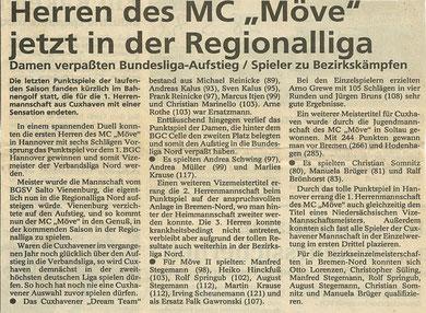 Artikel aus den Cuxhavener Nachrichten vom 28.5.1993