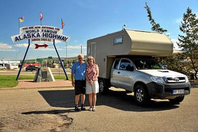 Der Beginn des Alaska Highways