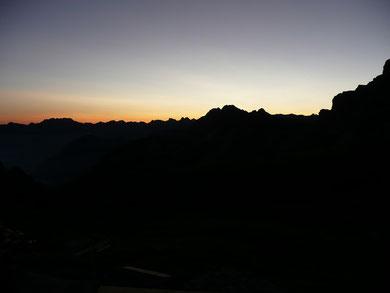 Morgenstimmung bei der Hütte