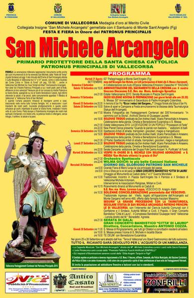 Programma RELIGIOSO e CIVILE Settembre 2010