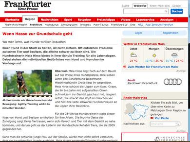 Hundeschule Frankfurt, Frankfurter Neue Presse