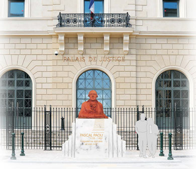 La statue qui sera inaugurée sans doute fin Novembre.