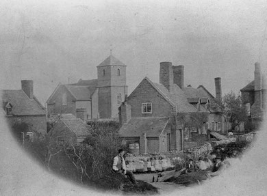 Stirchley Village c1885. Image from South Telford Heritage Trail website http://www.walktelfordheritage.co.uk. Personal and educational use permitted.