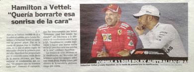 """Hamilton a Vettel: """"Quería borrarte esa sonrisa de la cara"""""""