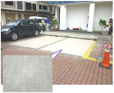 IRDA前駐車場完成
