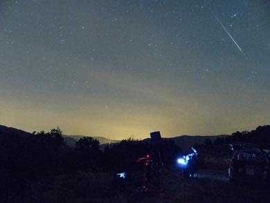 Une étoile filante des Perséides, 12 août
