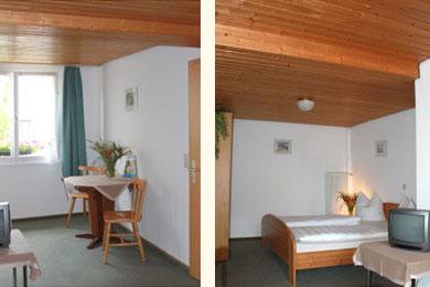 Blick in ein gemütliches Doppelzimmer des Hotels
