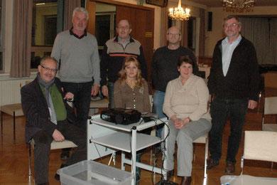 Karl J. Mayerhofer, Franz Schwab, Mag. Silvia Schweíghofer, STR Manfred Schweighofer, Fritz Weinauer, Maria und Leo Rollenitz