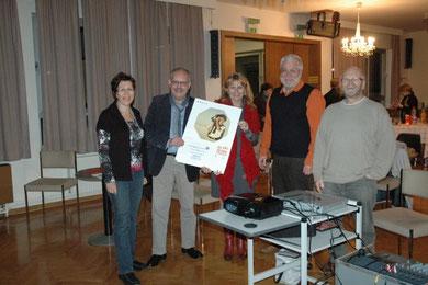 GGR Elfriede Schneider-Schwab, Karl J. Mayerhofer, Mag. Silvia Schweíghofer, Bgm. Paul Horsak, Fritz Weinauer
