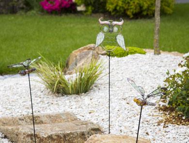 ©Nortene, figurine stylisée LUCILY en métal dotée d'éléments phosphorescents à planter