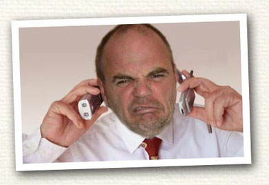 Steve Hartley hates mobile phones