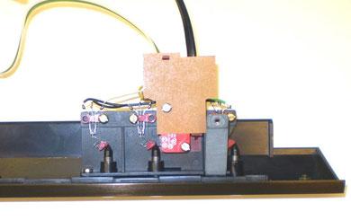 DUAL CS 626 Frontblende mit montierter Schaltplatine