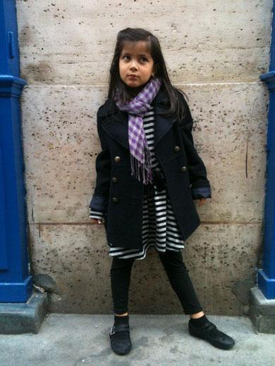 パリ、スナップ、ファッション、こども