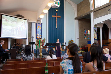 ソプラノ歌手の馬場美奈さんが歌われた「夕焼け小焼け」に大感動。