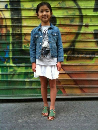 子供、スナップ、パリ、ファッション