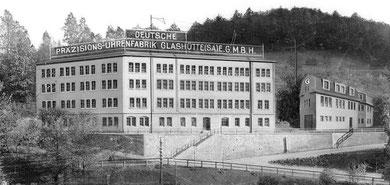 Das Produktionsgebäuder der DPUG nach dem Ausbau 1923