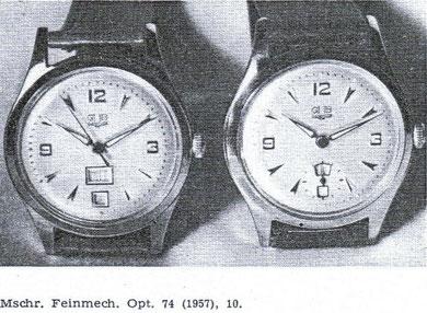 Präsentation in der Fachpresse 1957