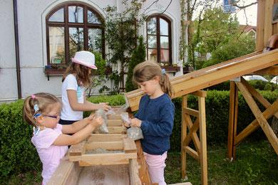 Goldwaschanlage, Goldwaschen, Kinderspielplatz, Edelsteine, Goldwaschen, Goldwaschen für Kinder