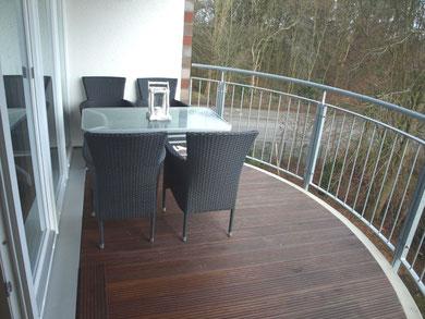 Ferienwohnung Duhnen 3.23 Balkon