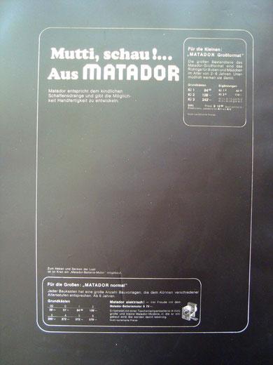 Klischee: Matador-Werbung vermutlich nach 1970.