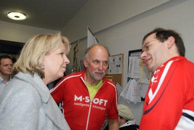 23. April 2012: Udo und Ralf mit NRW-Ministerpräsidentin Hannelore Kraft