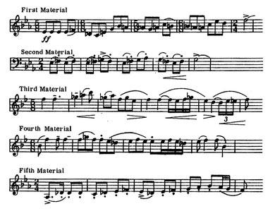 ハリー・ビジャン(1988)に基づく5つの素材