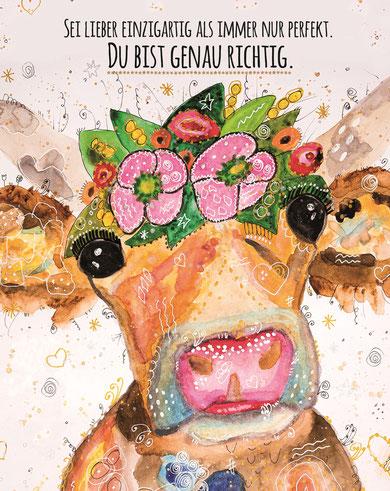 """""""Die Kuh""""- Eines der ersten Bilder von Sabine Waldmann"""