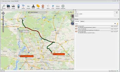 Baumaschinen Ortung GPS-Tracker live