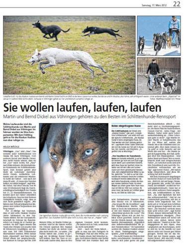 Südwest Presse v. 17.03.2012