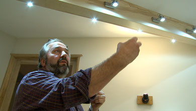 explaining veneering and wiring a 4m beam