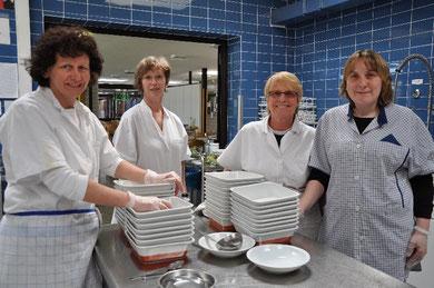 Küchenteam unter der Leitung von Cornelia Hauber