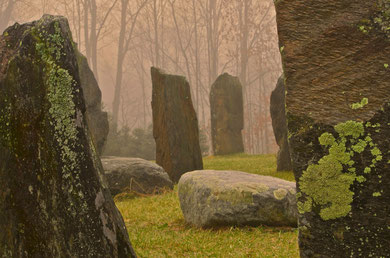 The Stone Circle at Distant Hill Gardens,