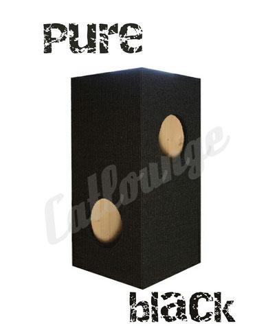Kratzturm medium pure black