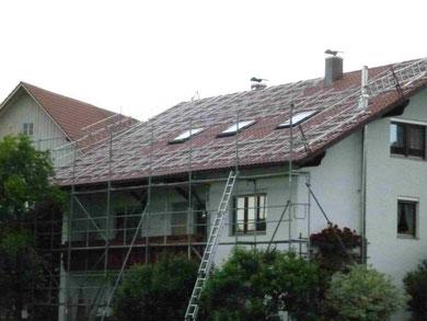 Gerüst Montage Solar Photovoltaik