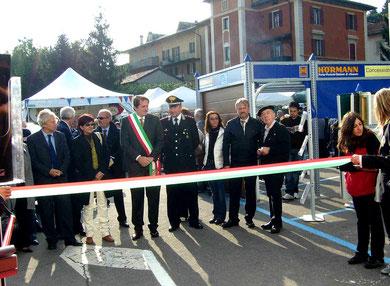 Die Bilder zeigen die Eröffnung der Fiera mit BM Marconi und der Illinger Delegation