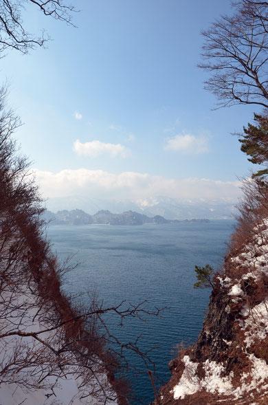 御倉半島中腹から見た中山半島
