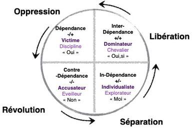 Représentation du cycle de la dépendance