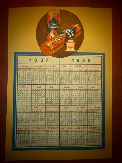 Mühlen Franck Kalender 1937-1938