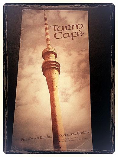 Dresden Turm-Cafe' Speise-Karte 1970