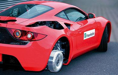 Elektroauto mit Radnabenmotor