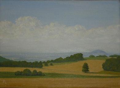 Auf der Geislinger Alb (Öl auf Leinwand, 13 x 18 cm, verkauft)