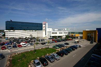 Eines der größten Einkaufszentren Europas in Wien