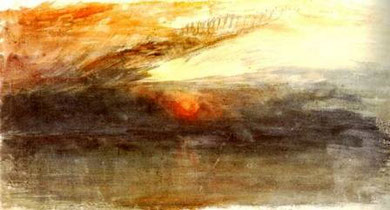 WILLIAM TURNER - Tramonto