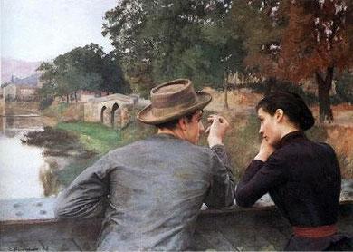 EMILE FRIANT - Les amoreux (1888)